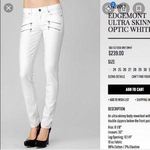 PAIGE Jeans | Edgemont Ultra Skinny Optic White